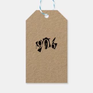 906 gåvamärkre presentetikett