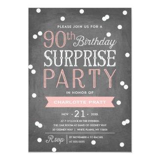 90:e födelsedag för inbjudan | för