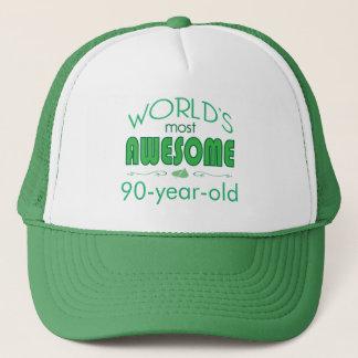 90:e födelsedagfirandevärld som är bäst i grönt truckerkeps