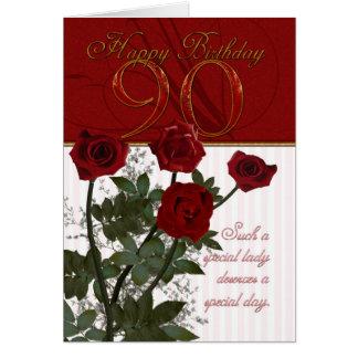 90:e födelsedagkort med ro hälsningskort