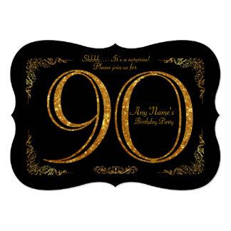90:e, för födelsedagsfest 90:e underbara Gatsby, 12,7 X 17,8 Cm Inbjudningskort