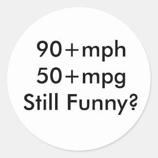 90+mph 50+rolig mpgStill? Runt Klistermärke