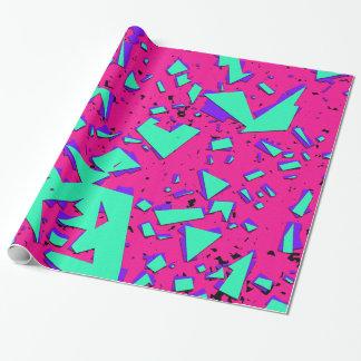 90-talkricka och abstrakt geometriskt mönster för presentpapper