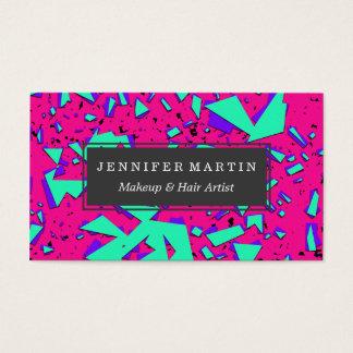 90-talkricka och abstrakt geometriskt mönster för visitkort