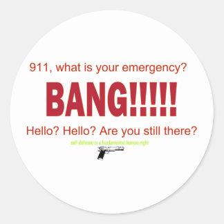 911 vad är din akut? runt klistermärke