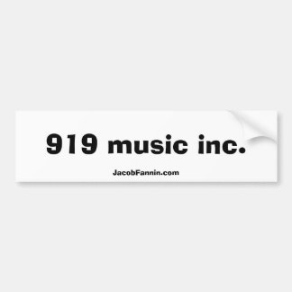 919 musik Inc., JacobFannin.com Bildekal