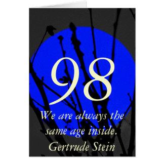 98th Födelsedag Hälsningskort