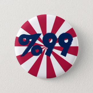 99% i rött, vit och blått knäppas standard knapp rund 5.7 cm