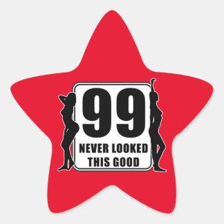 99 never looked this good stjärnformat klistermärke