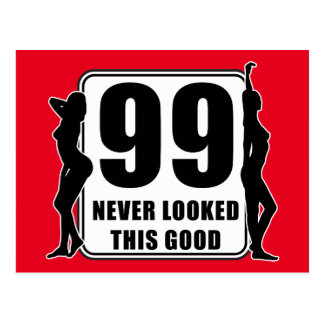 99 never looked this good vykort