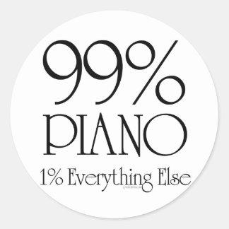 99% piano runt klistermärke