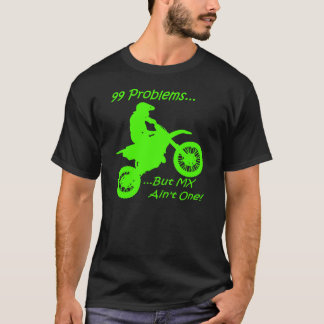 99 problem utan MX är inte en! Grönt på svart T-shirts