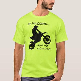 99 problem utan MX är inte en! Svart på grönt T Shirts