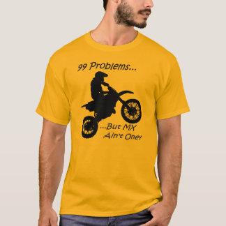 99 problem utan MX är inte en! Svart på orangen Tee Shirt