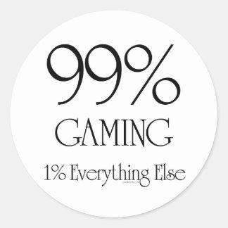 99% som spelar runda klistermärken