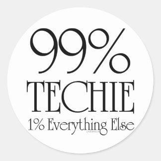 99% Techie Runt Klistermärke