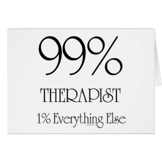 99% terapeut hälsningskort