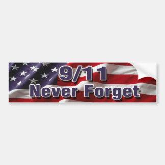 9/11 glöm aldrig bildekalet bildekal