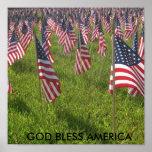 9-11 VÄLSIGNA DIG AMERIKA AFFISCH