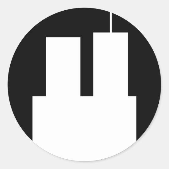 9/11 WTC RUNT KLISTERMÄRKE