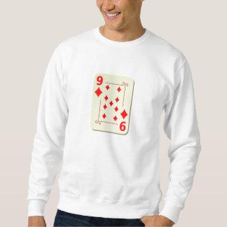 9 av diamanter som leker kortet långärmad tröja