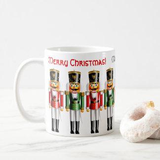 9 roliga röda och gröna julaftonnötknäppare kaffemugg