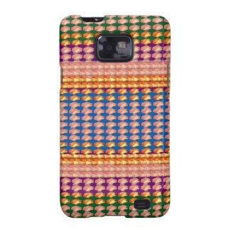 9TEMPLATE färgat lätt ATT TILLFOGA TEXT och Samsung Galaxy S2 Fodral