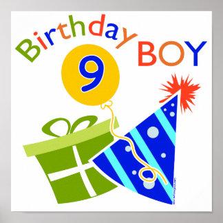 9th födelsedag för pojkar print