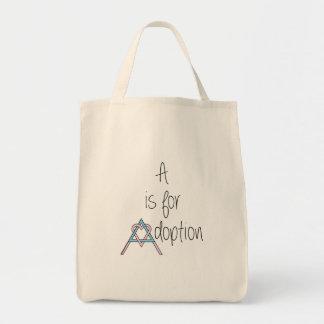 A är för adoption - matkasse mat tygkasse