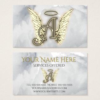 A är för det initiala ängelalfabetbrev visitkort