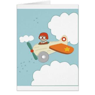 A är för flygplan hälsningskort