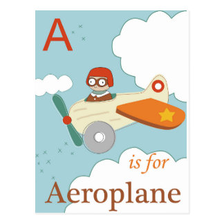 A är för flygplan vykort