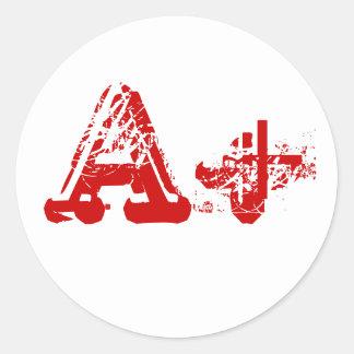 A+ Klistermärkear Runt Klistermärke