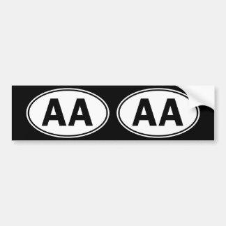 Aa-Ovallegitimation Bildekal