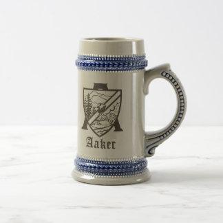 Aaker familjvapensköld Stein Ölkrus