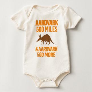 Aardvark 500 Miles rolig vits Bodies För Bebisar