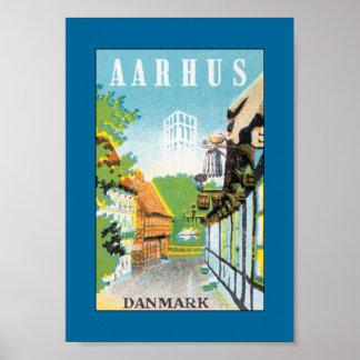 Aarhus Danmark (gränsen) Poster