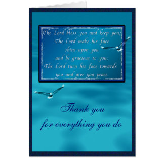 Aaronic välsignelse hälsningskort