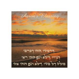 Aarons välsignelse - traditionell Benediction Trätavla