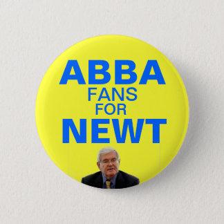 Abba fläktar för Newt Gingrich knäppas Standard Knapp Rund 5.7 Cm