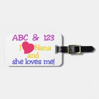 ABC & 123 I Nana och henne älskar mig! Bagagebricka