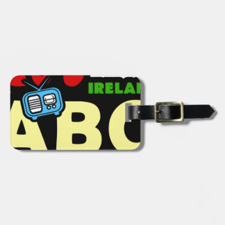 Abc-70-tal Irland radiosände Bagage Etiketter