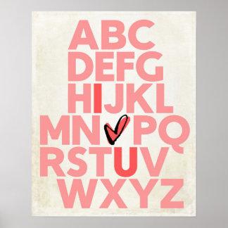 ABC älskar jag U-affischen Poster