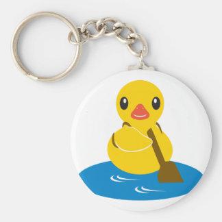 Abc-djur - paddla ankan rund nyckelring