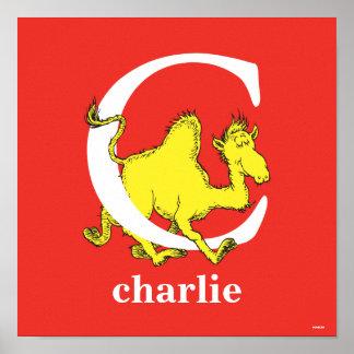 ABC för Dr. Seusss: Brev C - Vit | tillfogar ditt Poster