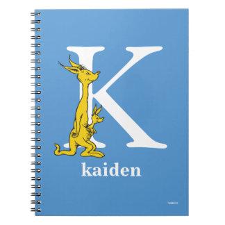 ABC för Dr. Seusss: Brev K - Vit | tillfogar ditt Anteckningsbok Med Spiral