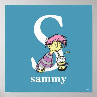 ABC för Dr. Seusss: Brev S - Vit | tillfogar ditt Poster