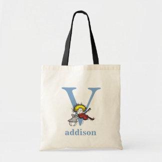 ABC för Dr. Seusss: Brev V - Blått   tillfogar Budget Tygkasse