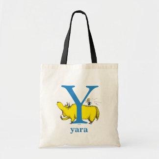 ABC för Dr. Seusss: Brev Y - Blått   tillfogar Budget Tygkasse