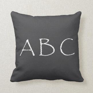 ABC för polyesterdekorativ kuddekrita Kudde